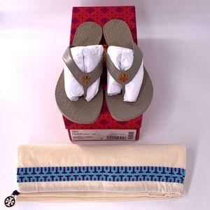 Tori Burch French Grey Monroe Sandals/Flip Flops